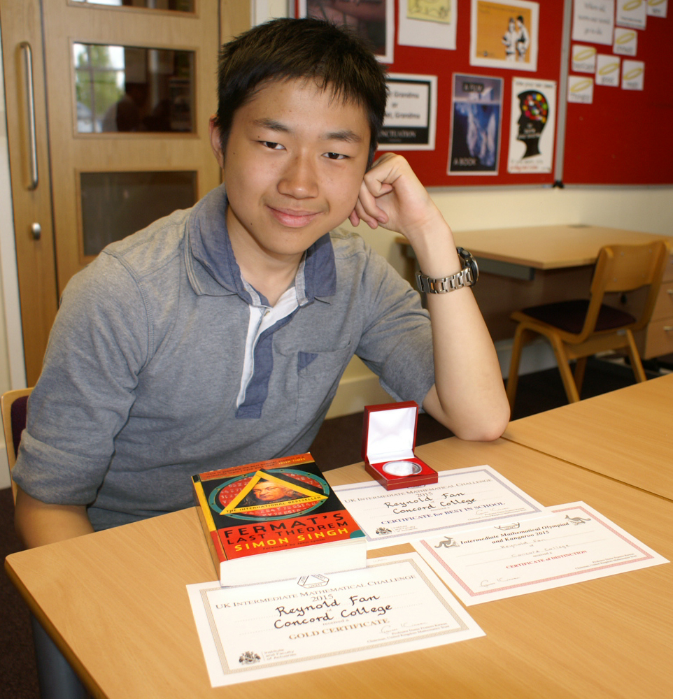 Concord Student Scores Top Marks in Intermediate Mathematics